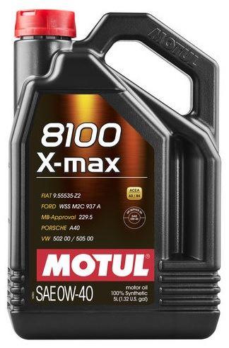 MOTUL 8100 X-MAX 0W-40 5L 0W40 8100 X-MAX 5/MT