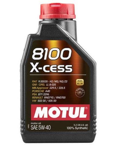 MOTUL 8100 X-CESS 5W-40 1L 5W40 8100 X CESS 1/M