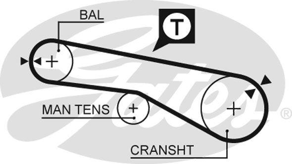 Zestaw paska rozrządu GATES K015372XS