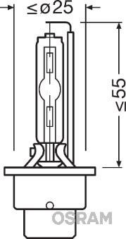 Żarówka, reflektor dalekosiężny OSRAM 66240XNL